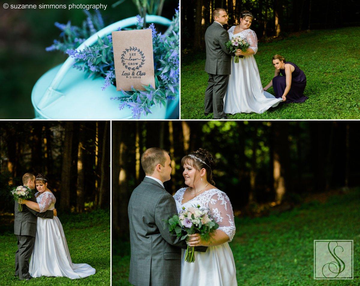 Summer wedding portraits in Standish, Maine