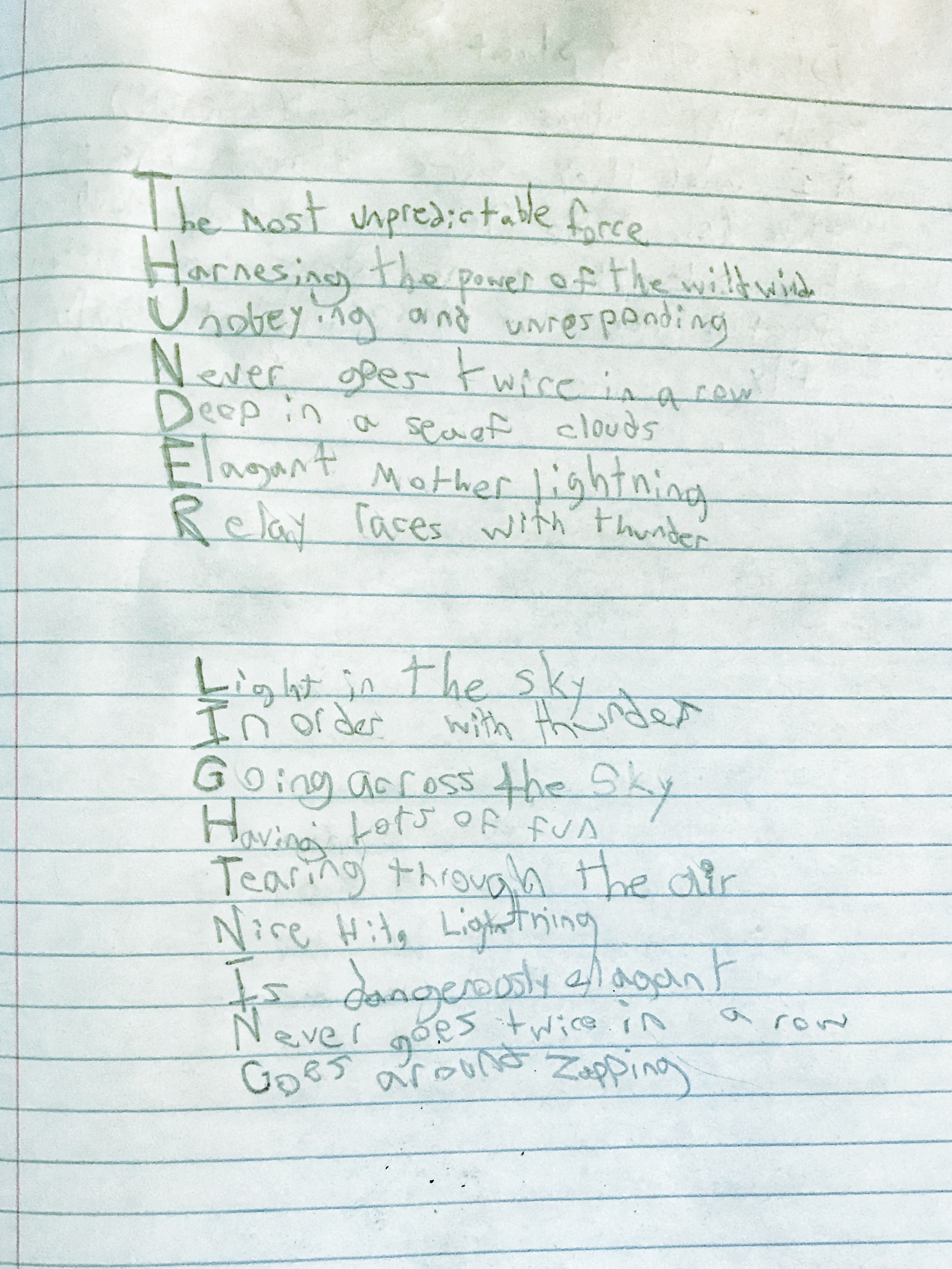 "- And in ""Toil & Trouble: Writing Spell Poems,"" 3rd, 4th, and 5th graders created chants and charms drawn from natural elements to make magical pieces of writing."