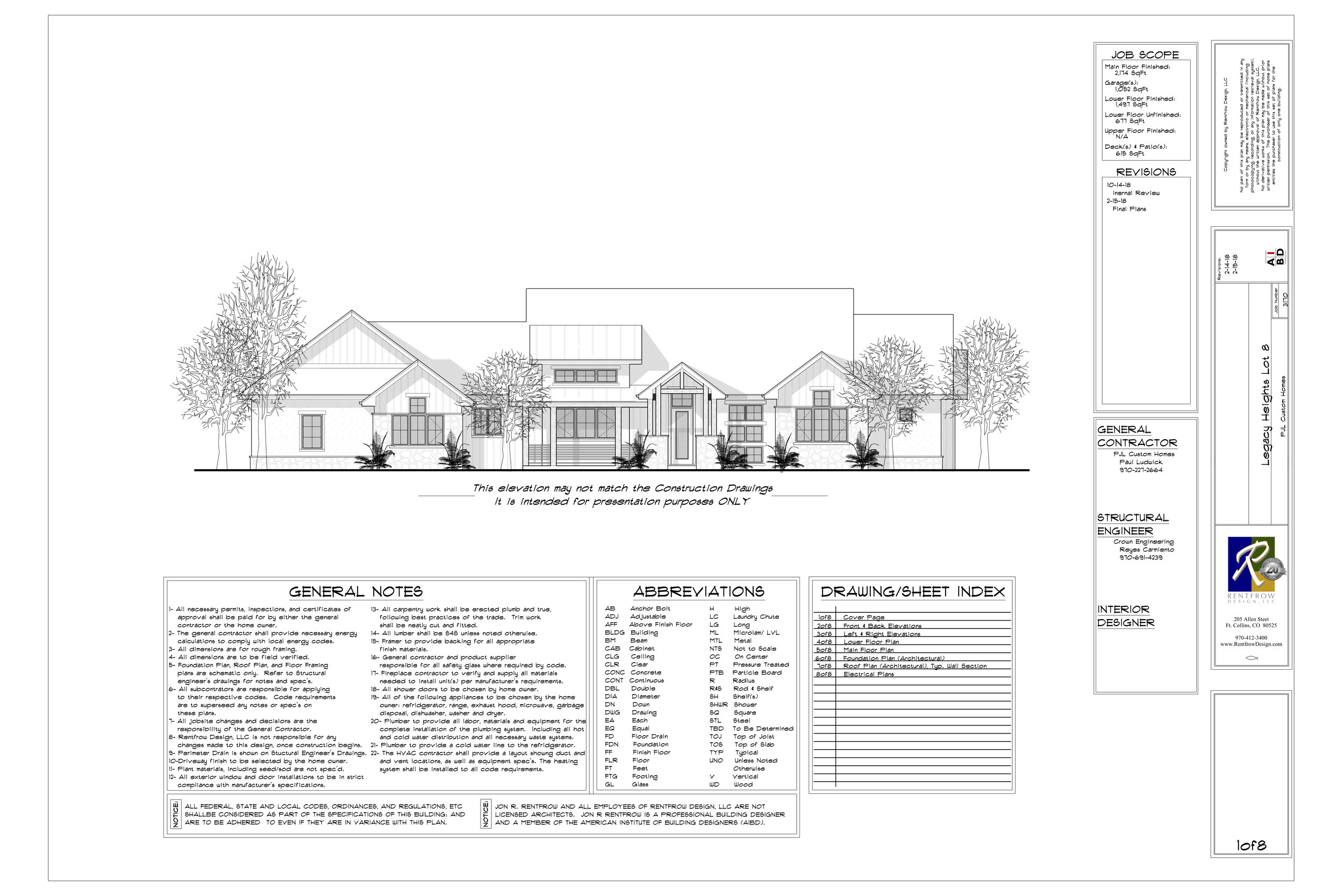 Example Plans - Download a Custom Home Builder Plan for this Lot