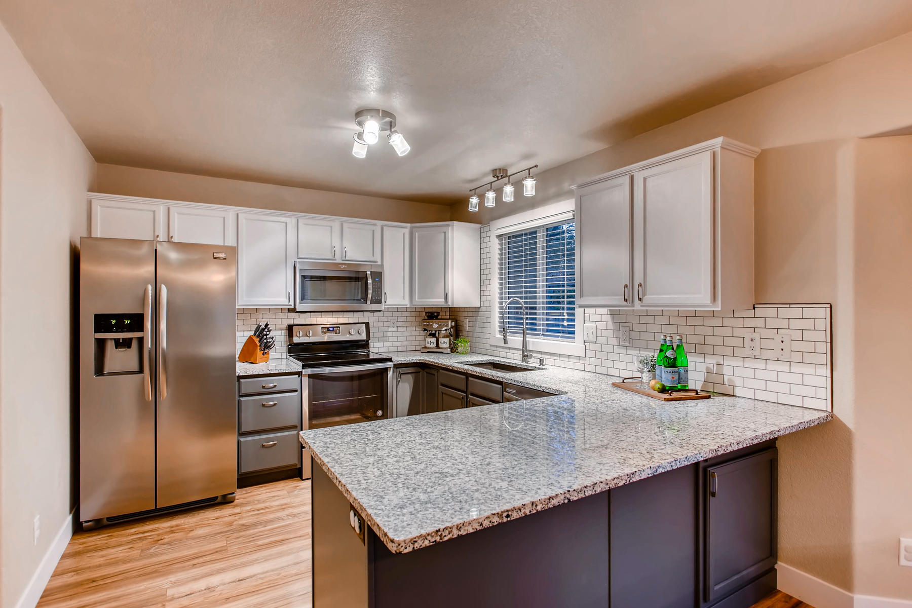 New Kitchen with Refinished Cabinets, Granite Countertops, SS Appliances & Backsplash