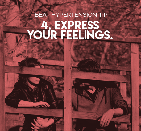 4. Express your feelings