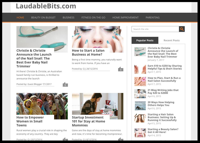 Laudable Bits Blog