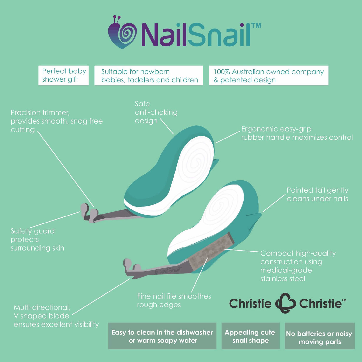 Nail Snail Features