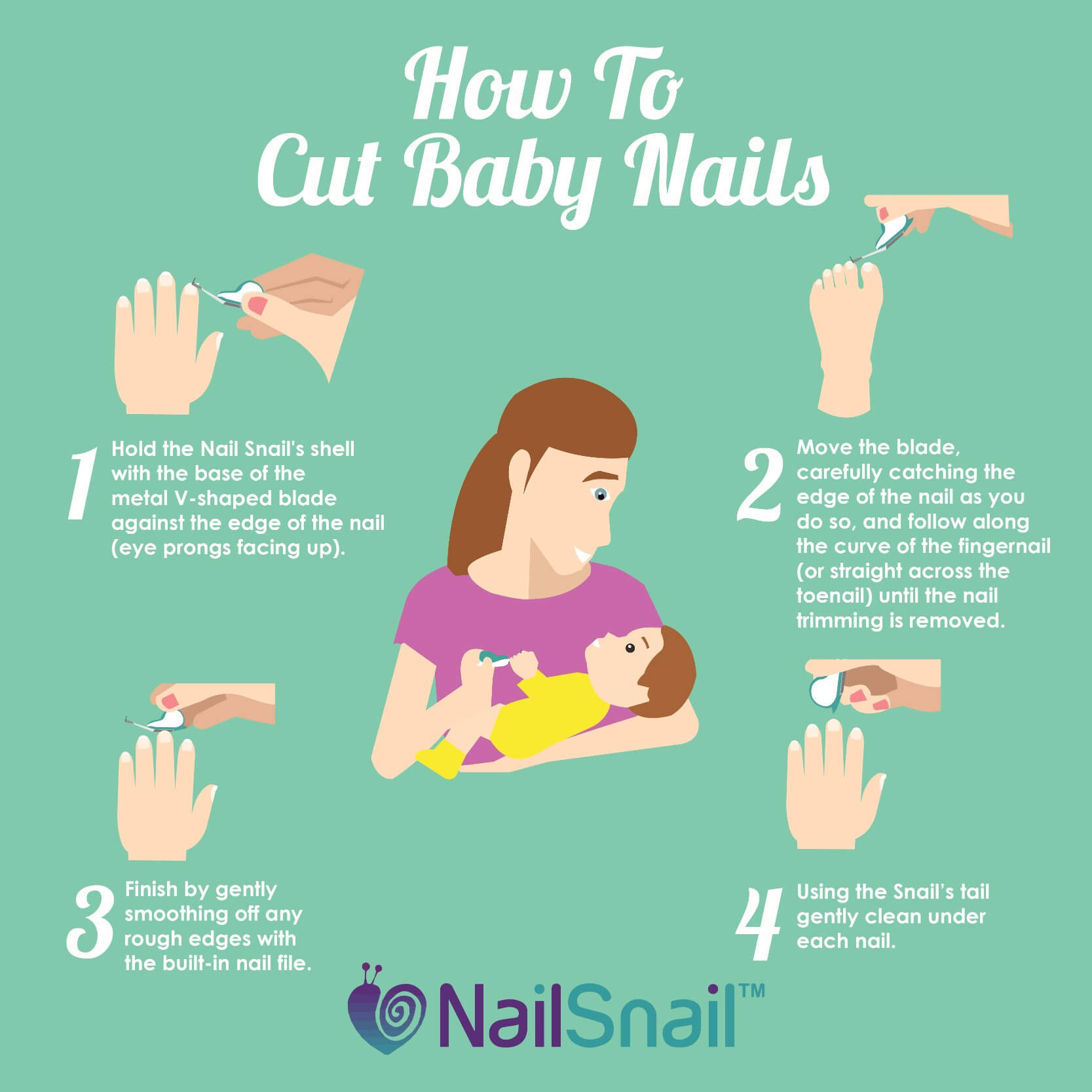 Nail Snail - How to Cut Baby Nails