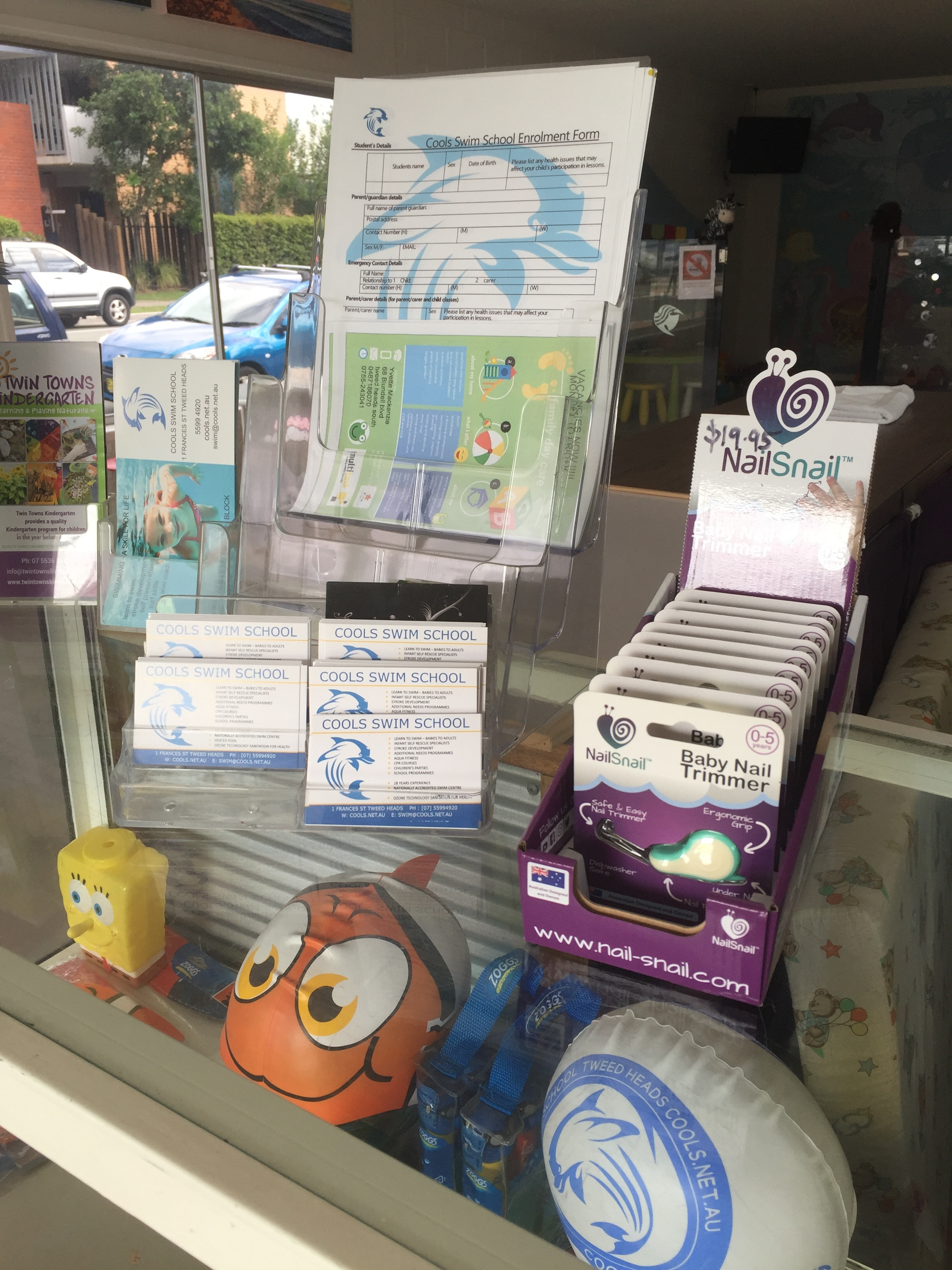 Nail Snail Counter Display Cools Swim School