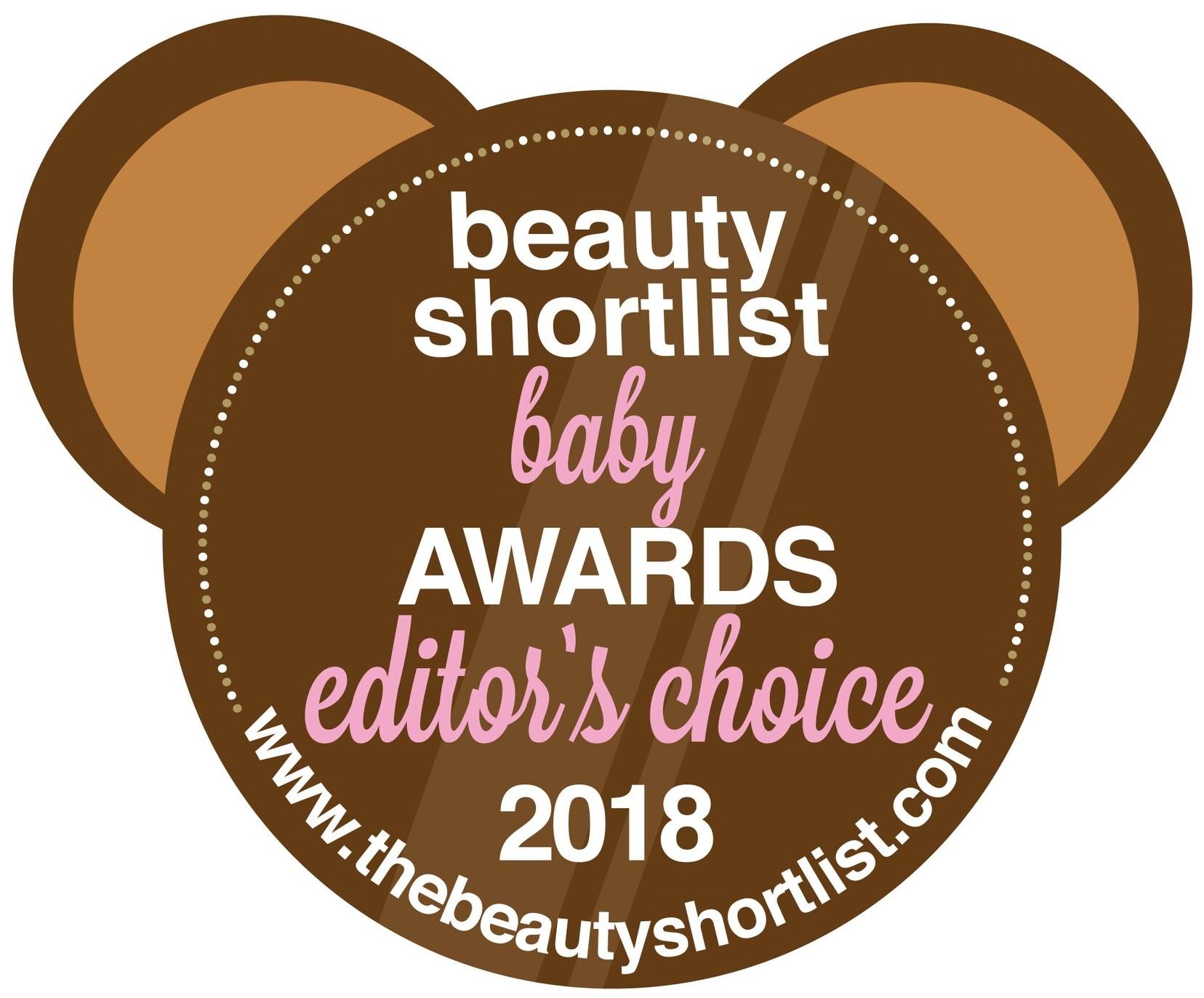Beauty Shortlist Mama & Baby Awards - Editors Choice