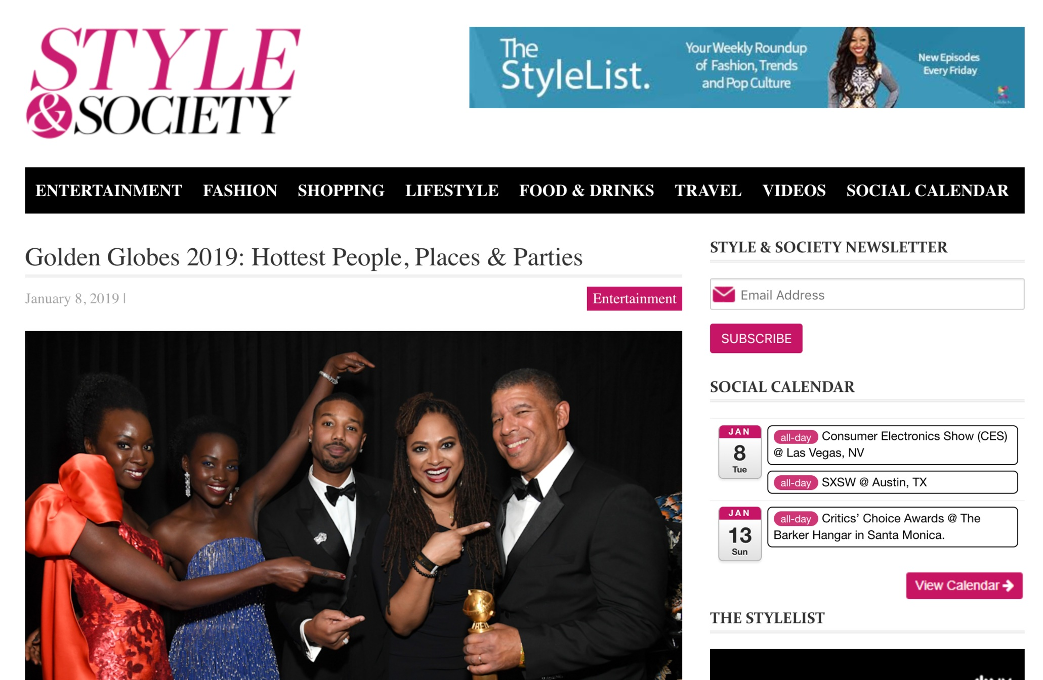 Style & Society - Golden Globes