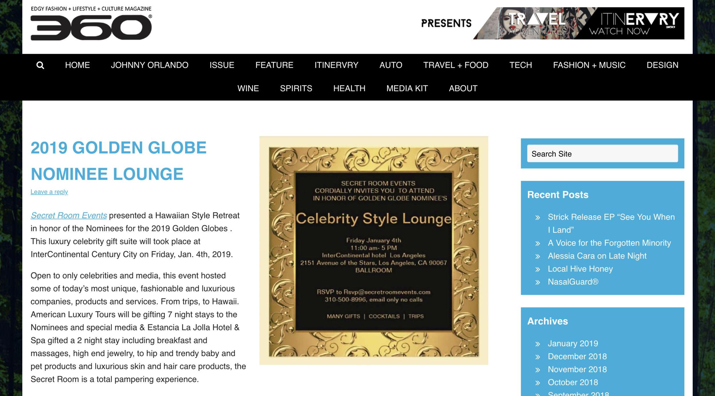 Edgy Fashion + Lifestyle + Culture Magazine - The Golden Globes