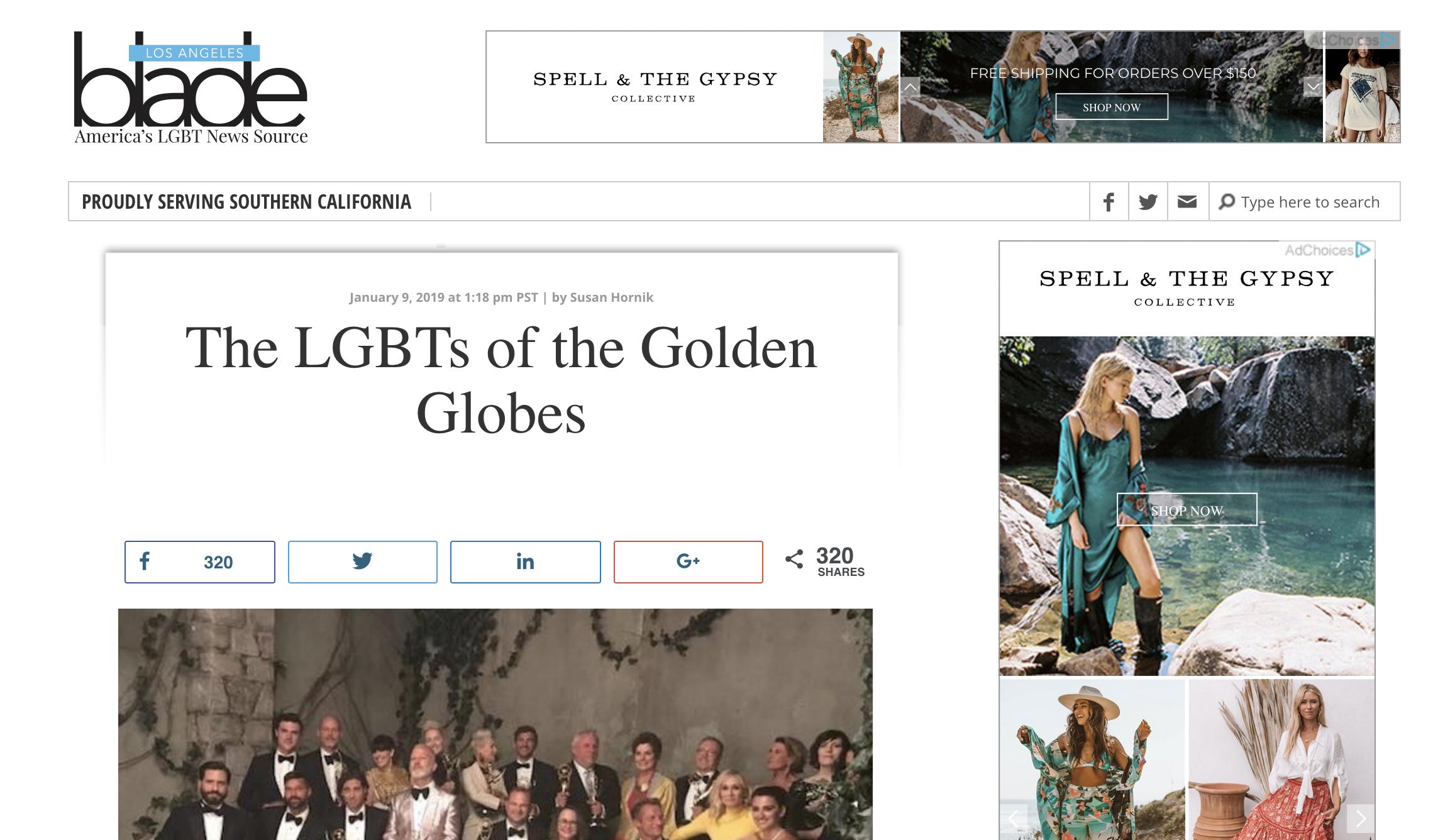 Los Angeles Blade - Golden Globes