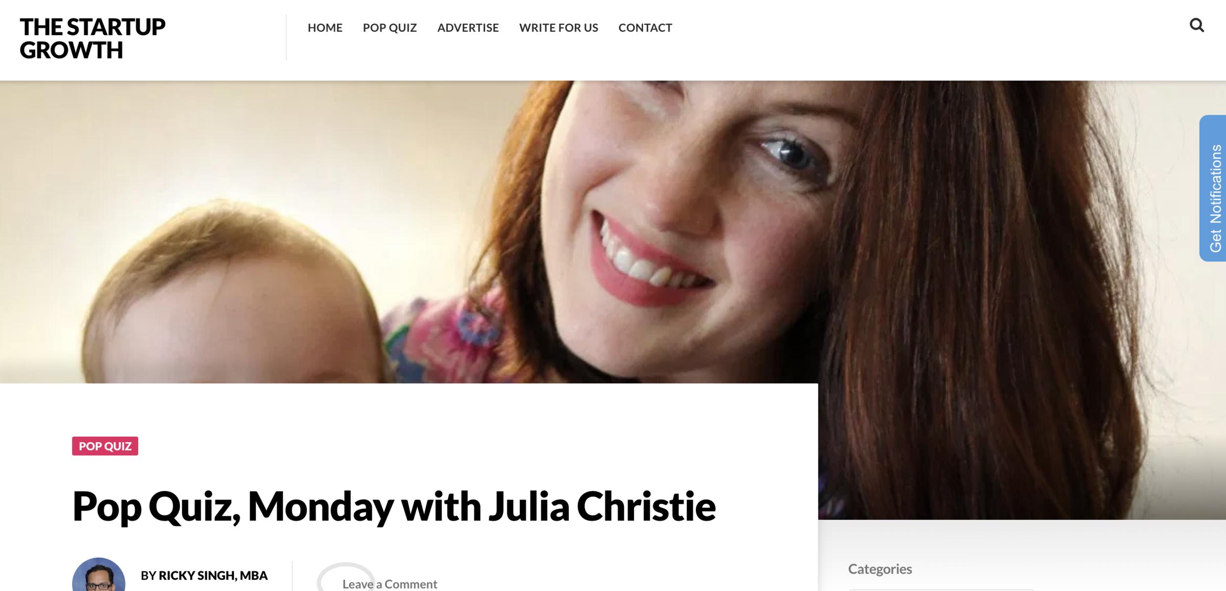 The Start Up Growth - Julia Christie