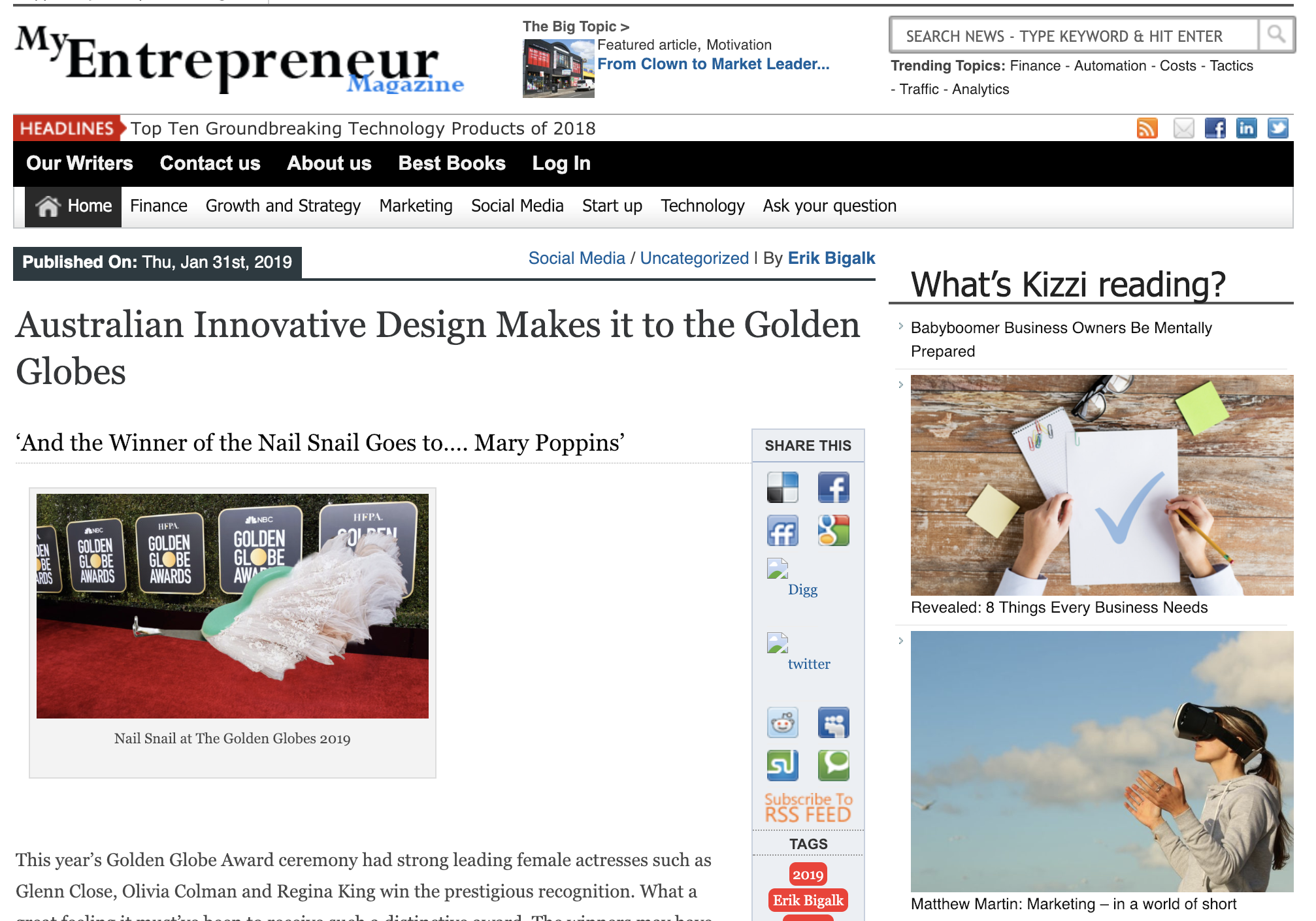 My Entrepreneur Magazine