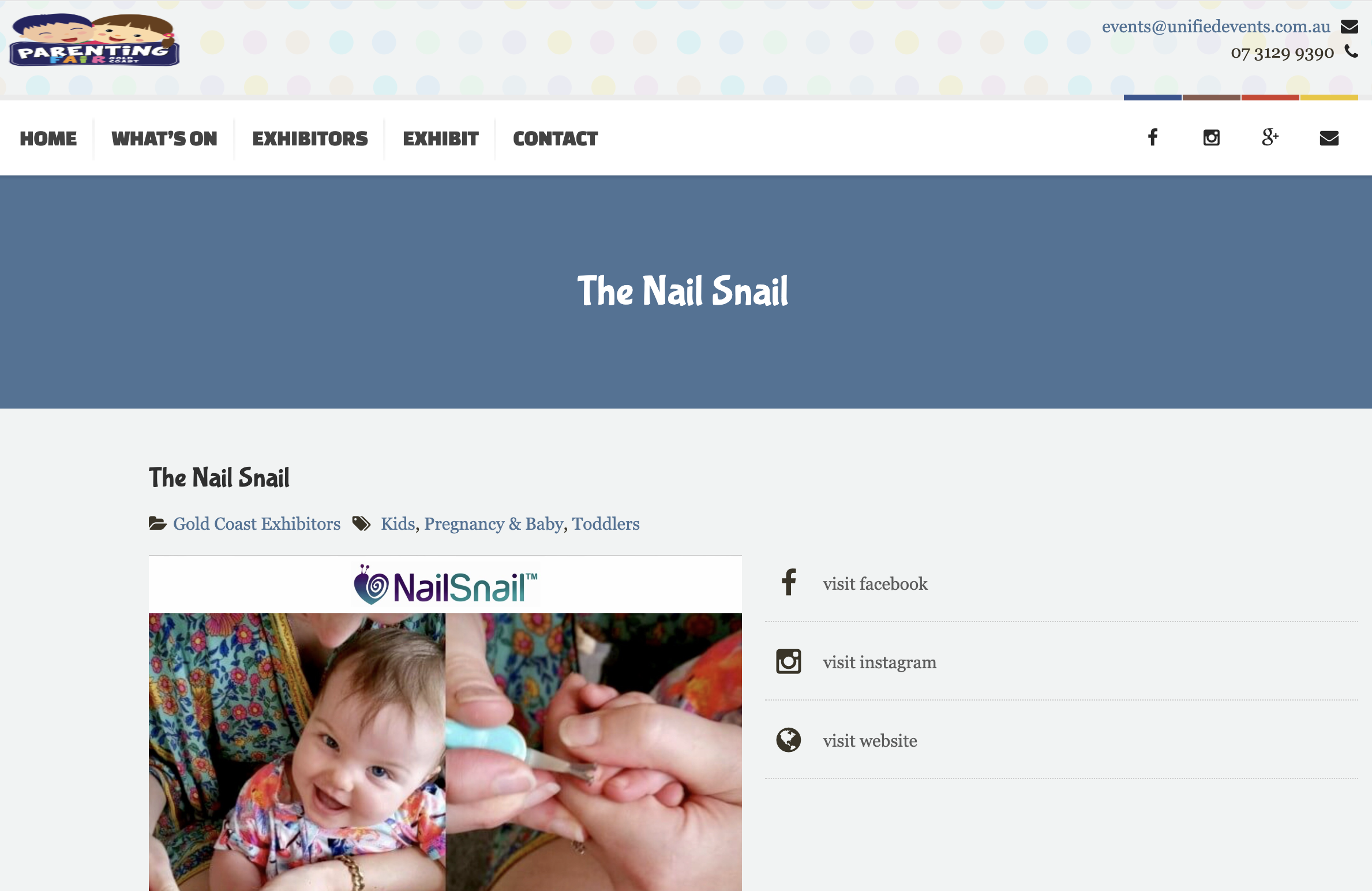 Parenting Fair - The Nail Snail