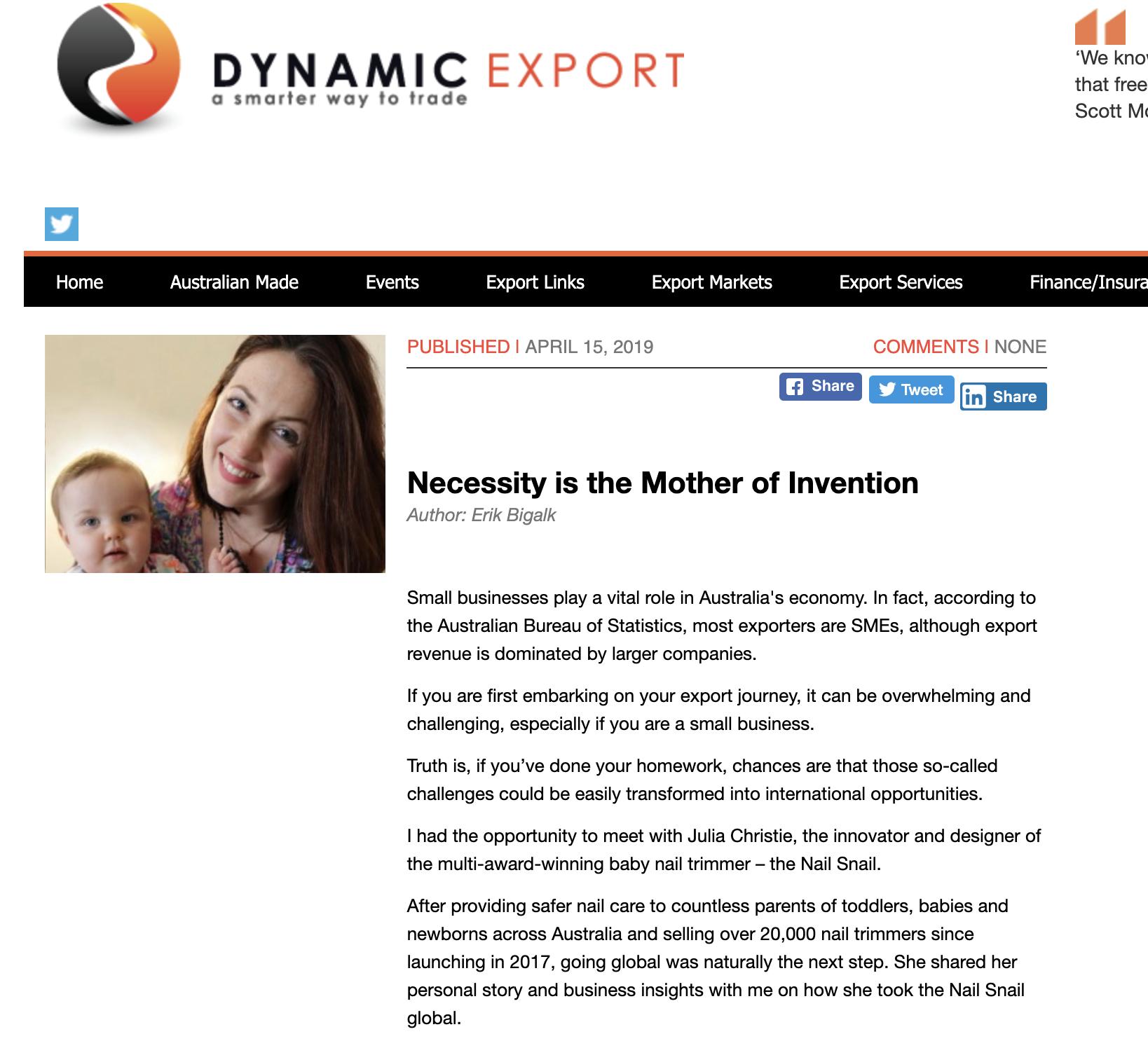 Dynamic Export