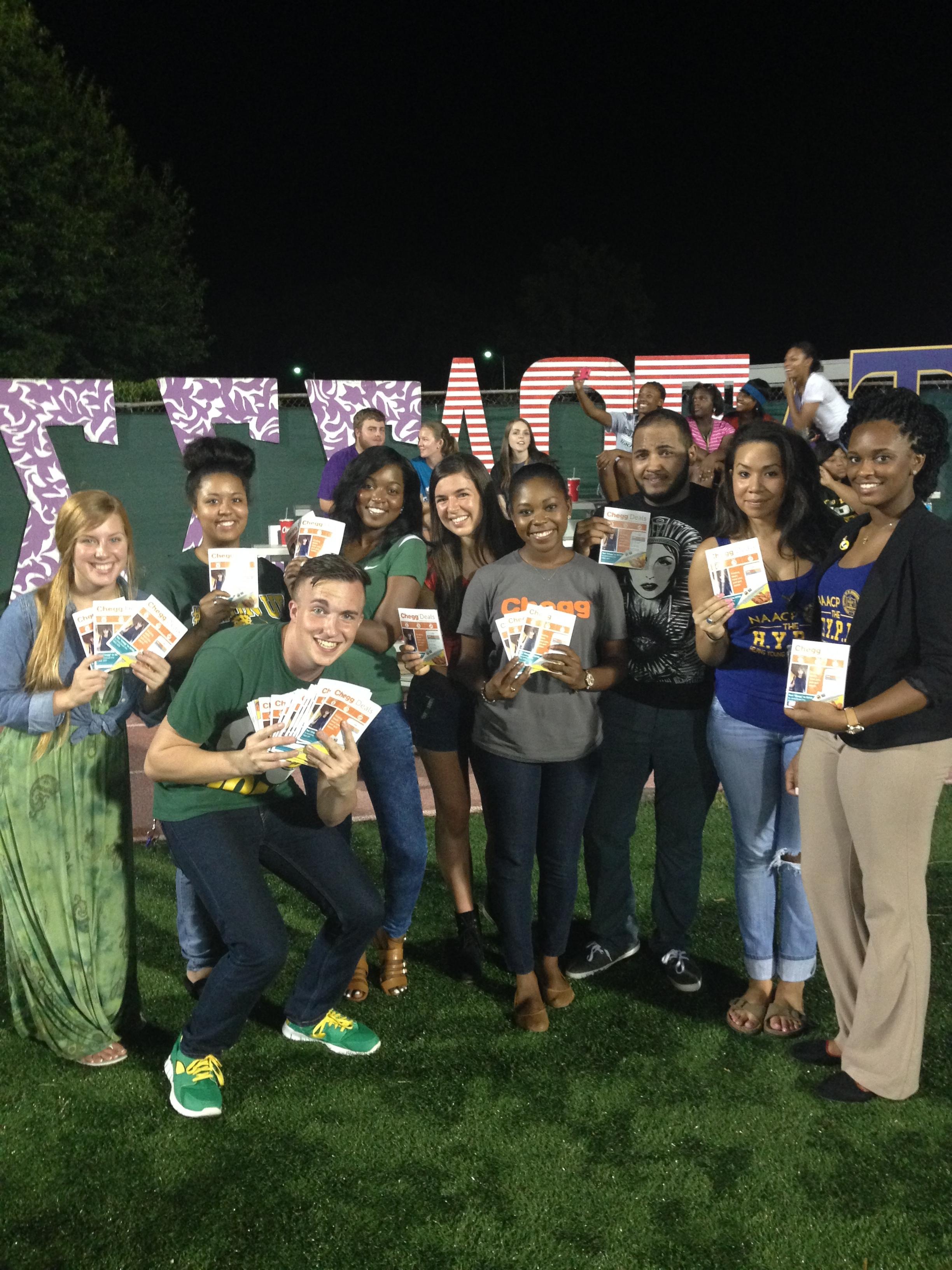 SLU Event Marketing Team for the 2014 Launch of Chegg Deals
