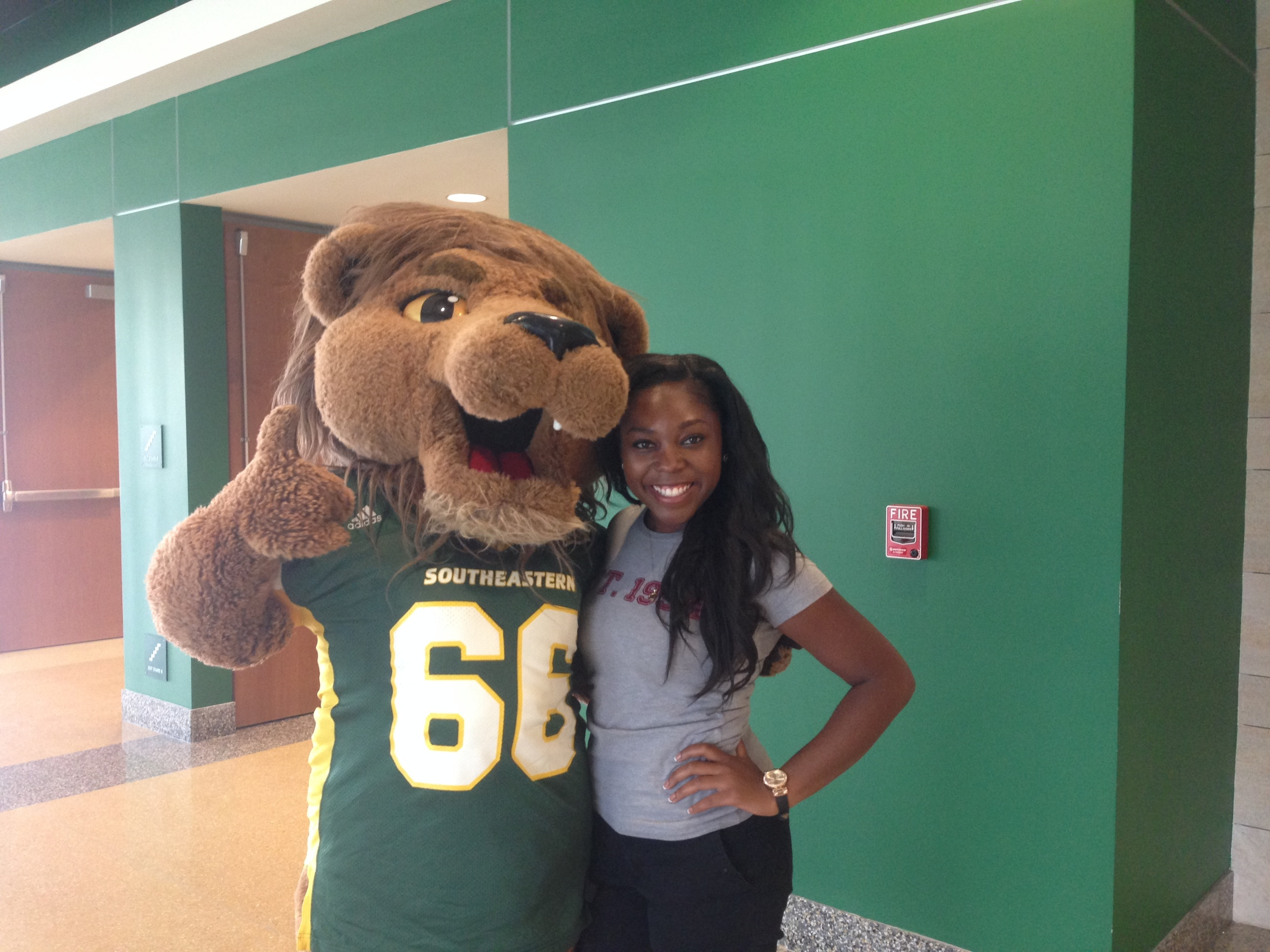 Jasmine and Roomie during 2014 Homecoming Campaign week