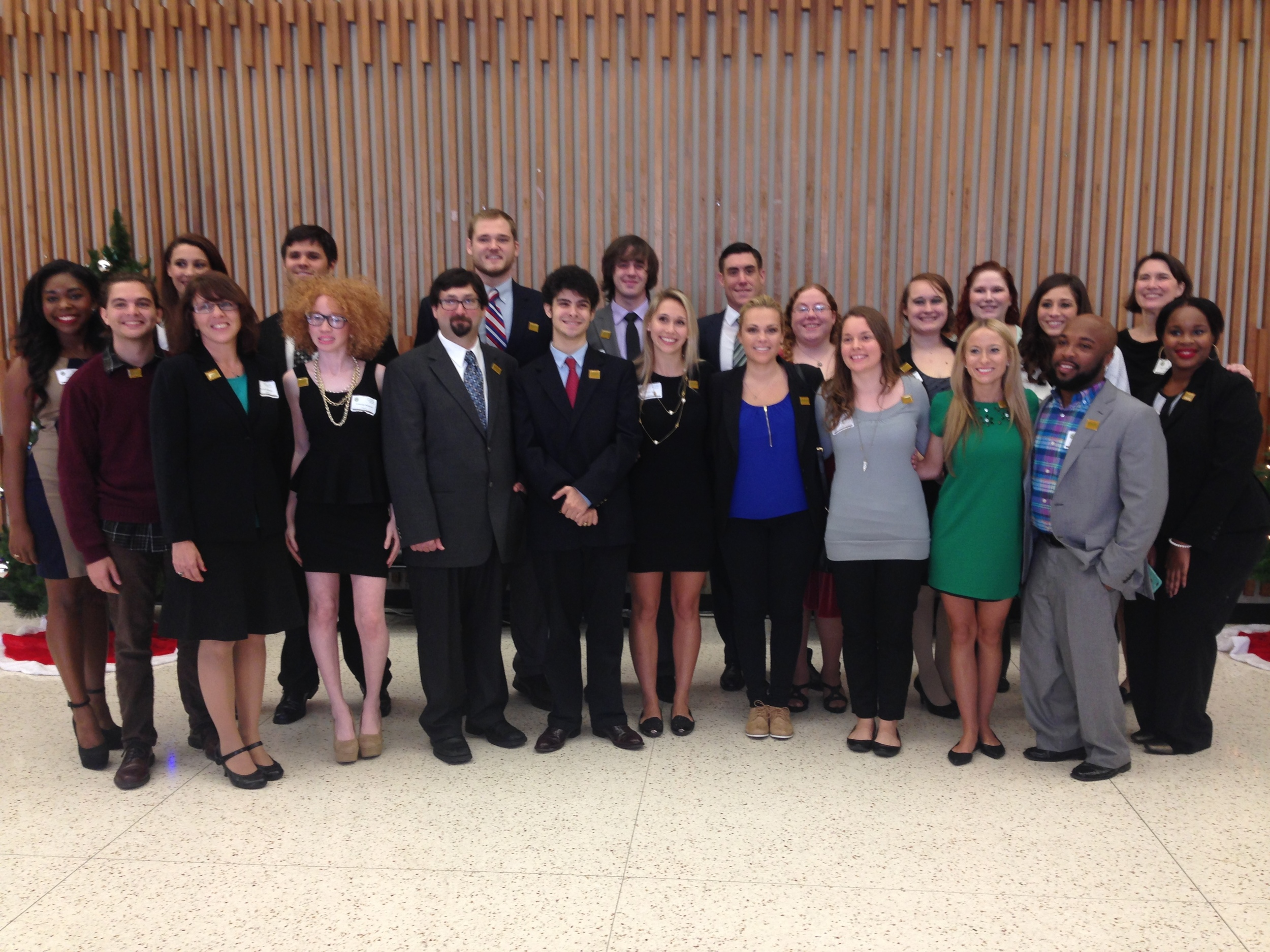 Fall 2014 Communication Graduates after presenting theses