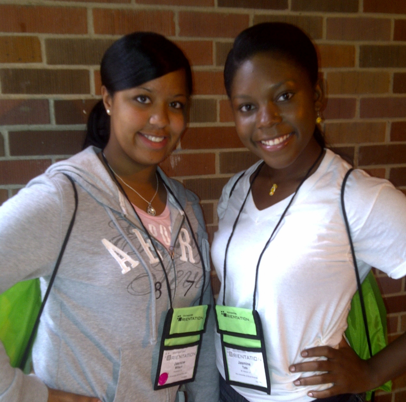 My best friend, Jasmine, and I during freshman orientation June 15, 2011 at Southeastern Louisiana University.