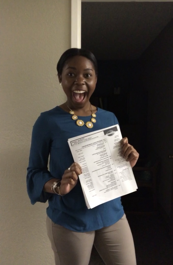 All smiles after completing my Toastmasters Speech.