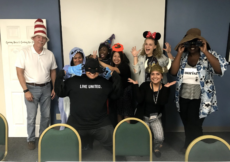 Inland Empire United Way  hosted bi-monthly spirit days each month. My birthday fell on Hat Day!
