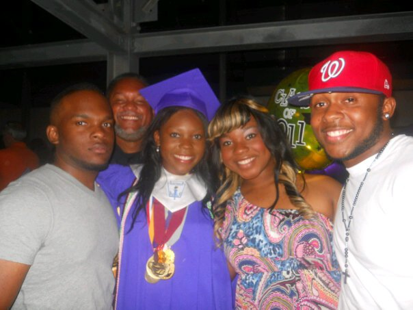 After crossing the stage and earning my high school diploma, I quickly found my family to celebrate.
