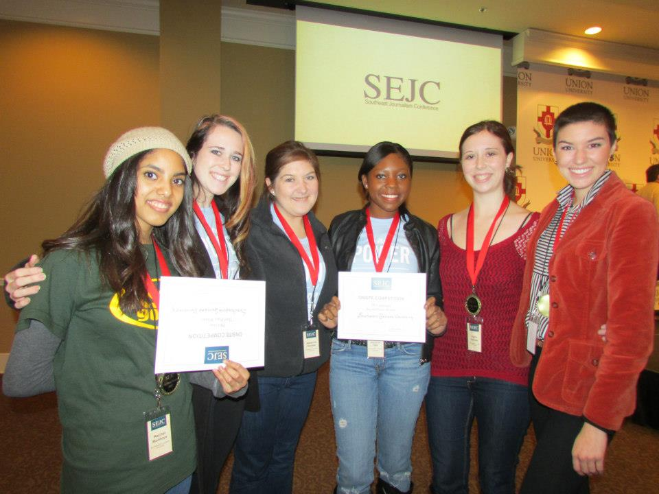 During my sophomore year at Southeastern, I represented our department on the PR Campaigns competition team at the Southeast Journalism Conference. Our team placed in a SEJC PR Competition for the first time in Southeastern History.