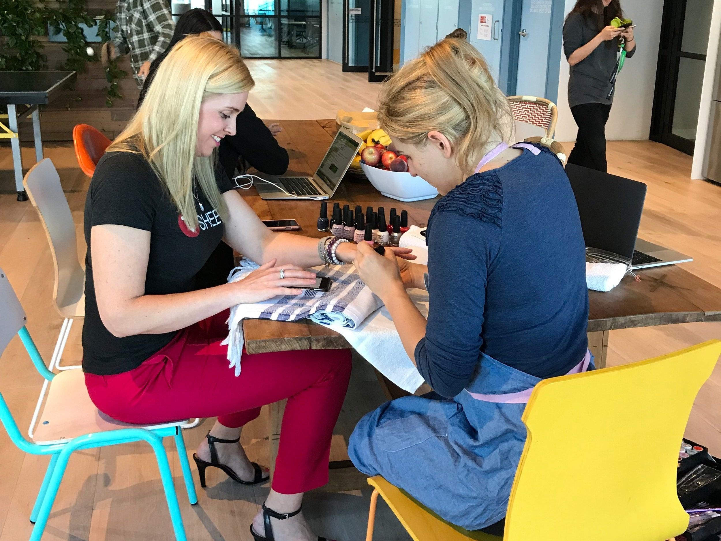 Office manicures @ Intuit HQ, Sydney