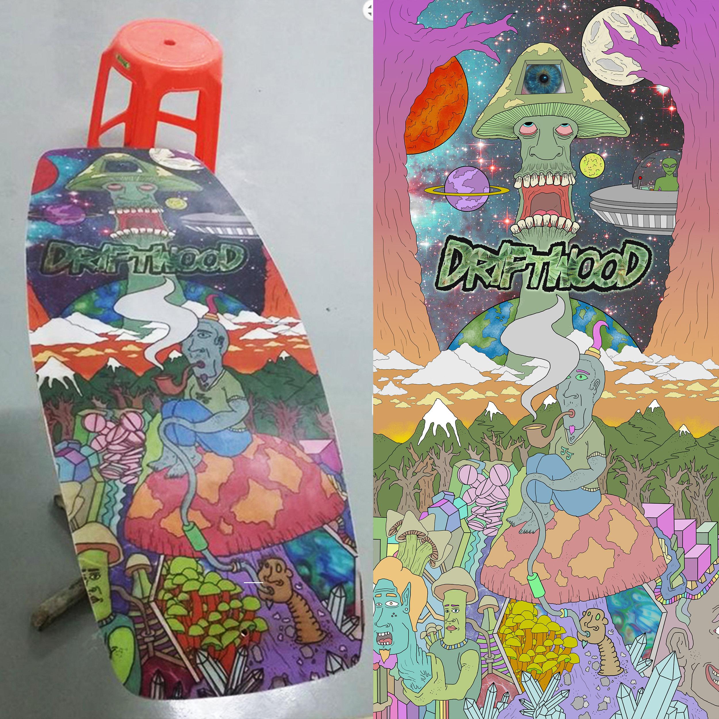 'Driftwood' artist series wakeskate design (2014)
