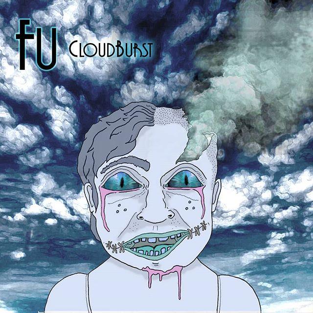 Designed up this cover art for 'Cloudburst' E.P by rapper Fu (now Luke Hardy) 🎵🎶🎙️@lukehardymusic