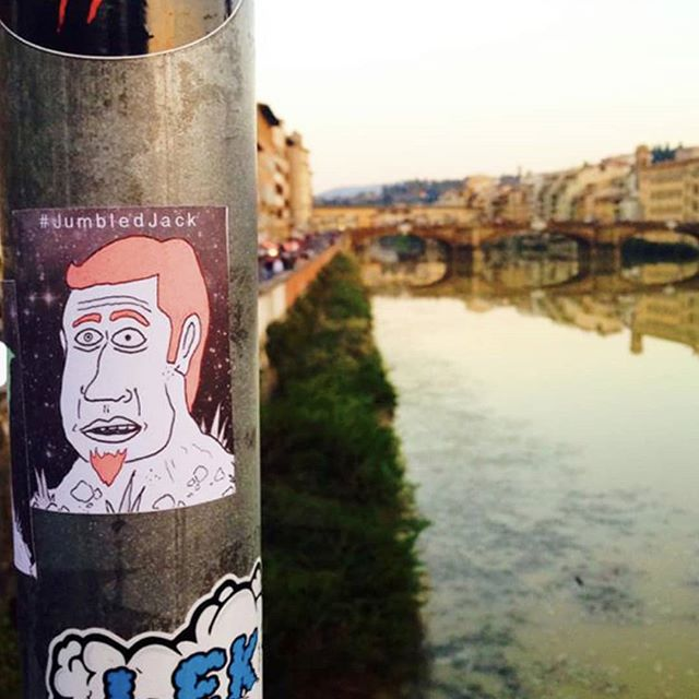 2014's 'Jumbled Jack Global' promotional campaign made it to Florence, Italy. Solid effort 🇦🇺👉🇮🇹