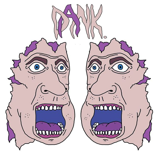2016 T-shirt and logo design for Thai wakeskate company 'DANK.'