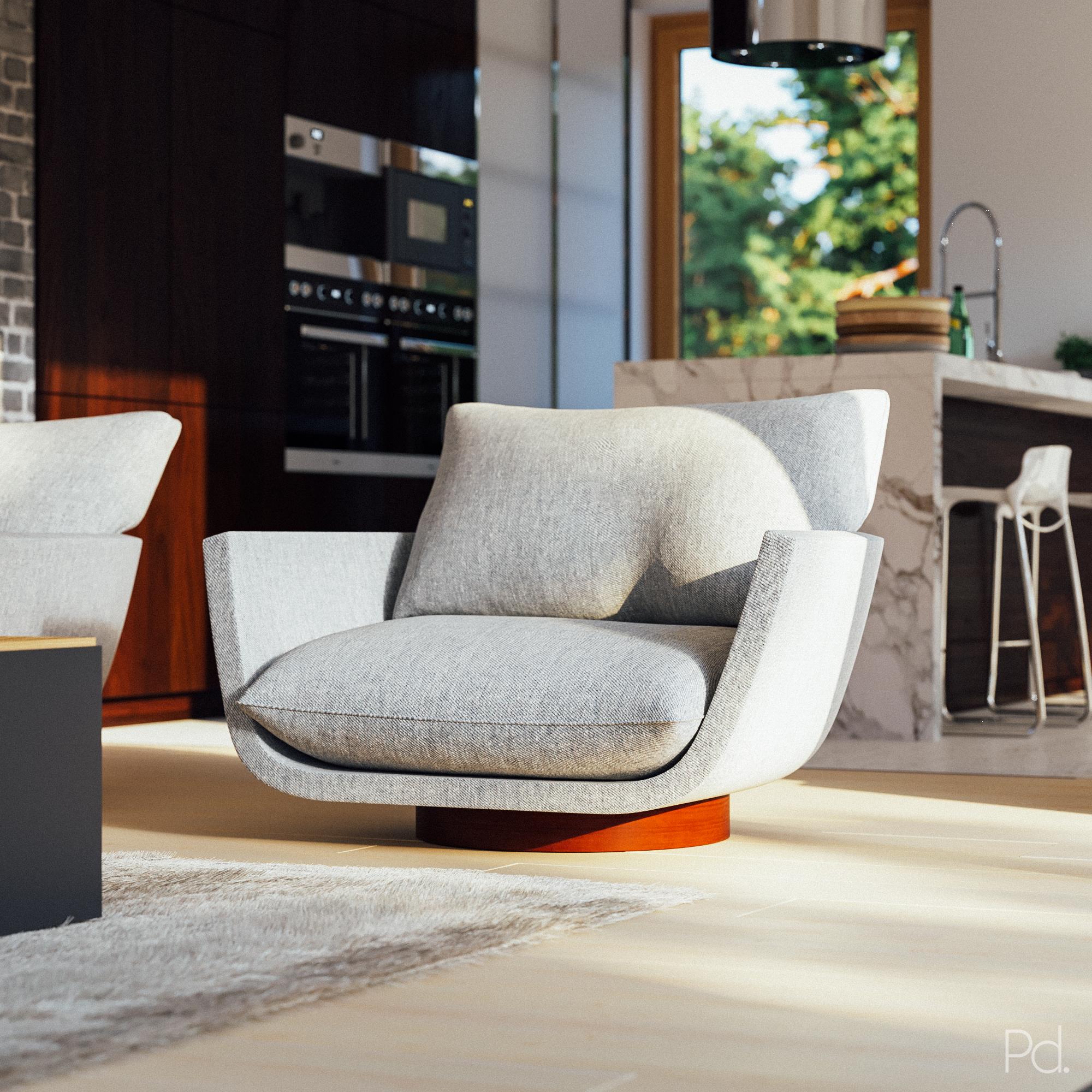 PD Shop - Yabu Pushelbergs Rua Ipanema armchair 3d model