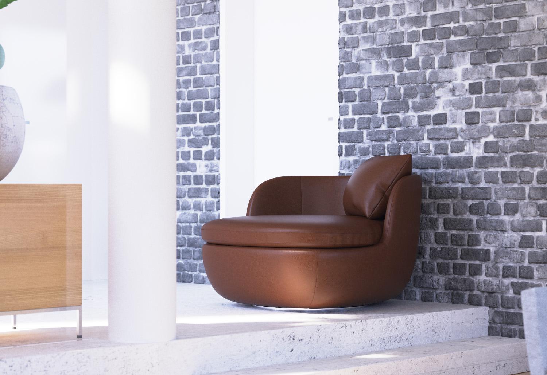 PD Shop - Moooi Bart Swivel armchair 3d model