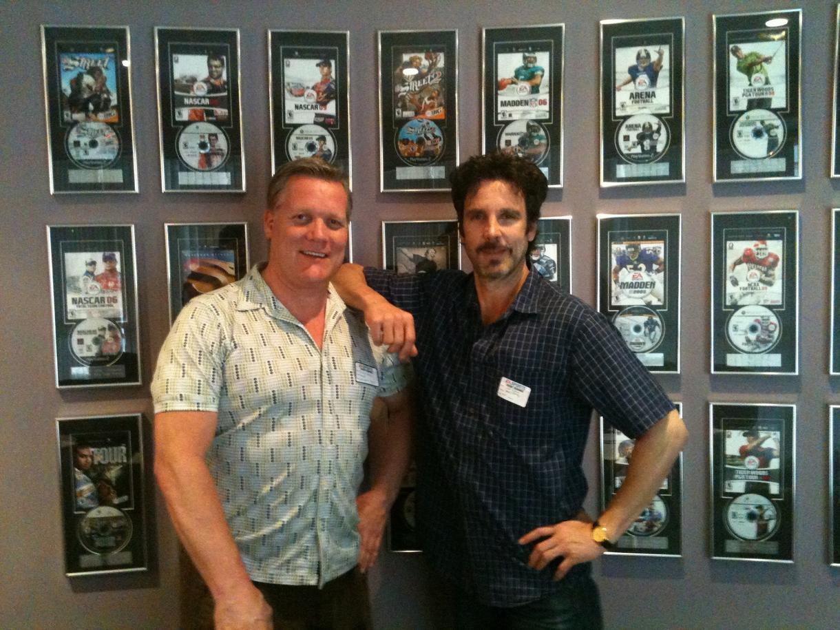 Tim Kitzrow and  Brian Haley  at EA Sports Studios recording NFL Blitz.