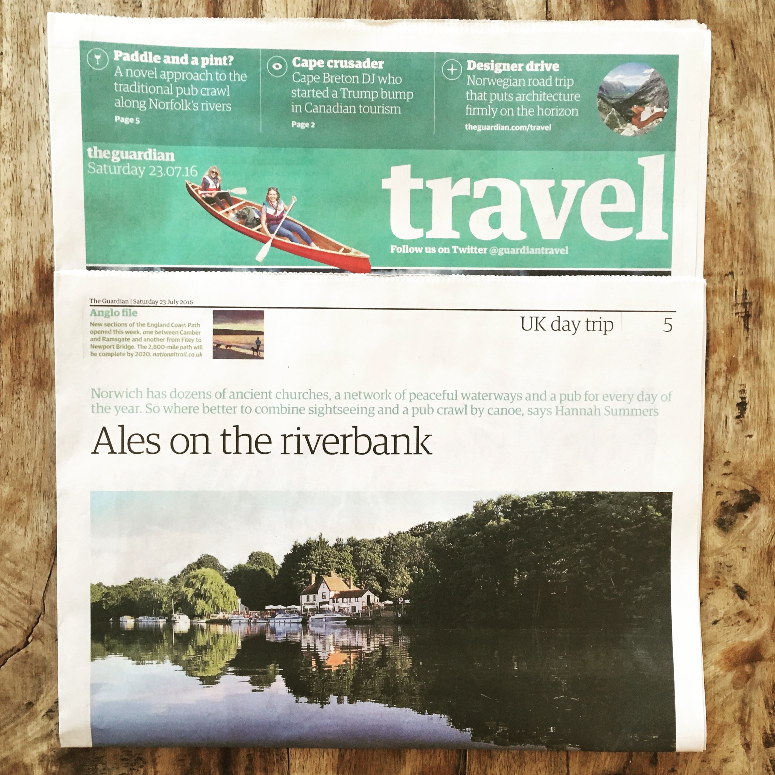 Travel | The Guardian | Norwich by canoe