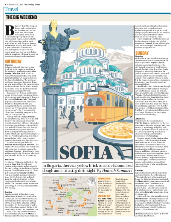 Travel | The Sunday Times | Sofia