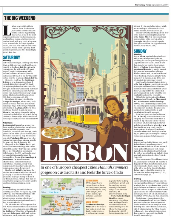 Travel | The Sunday Times | Lisbon