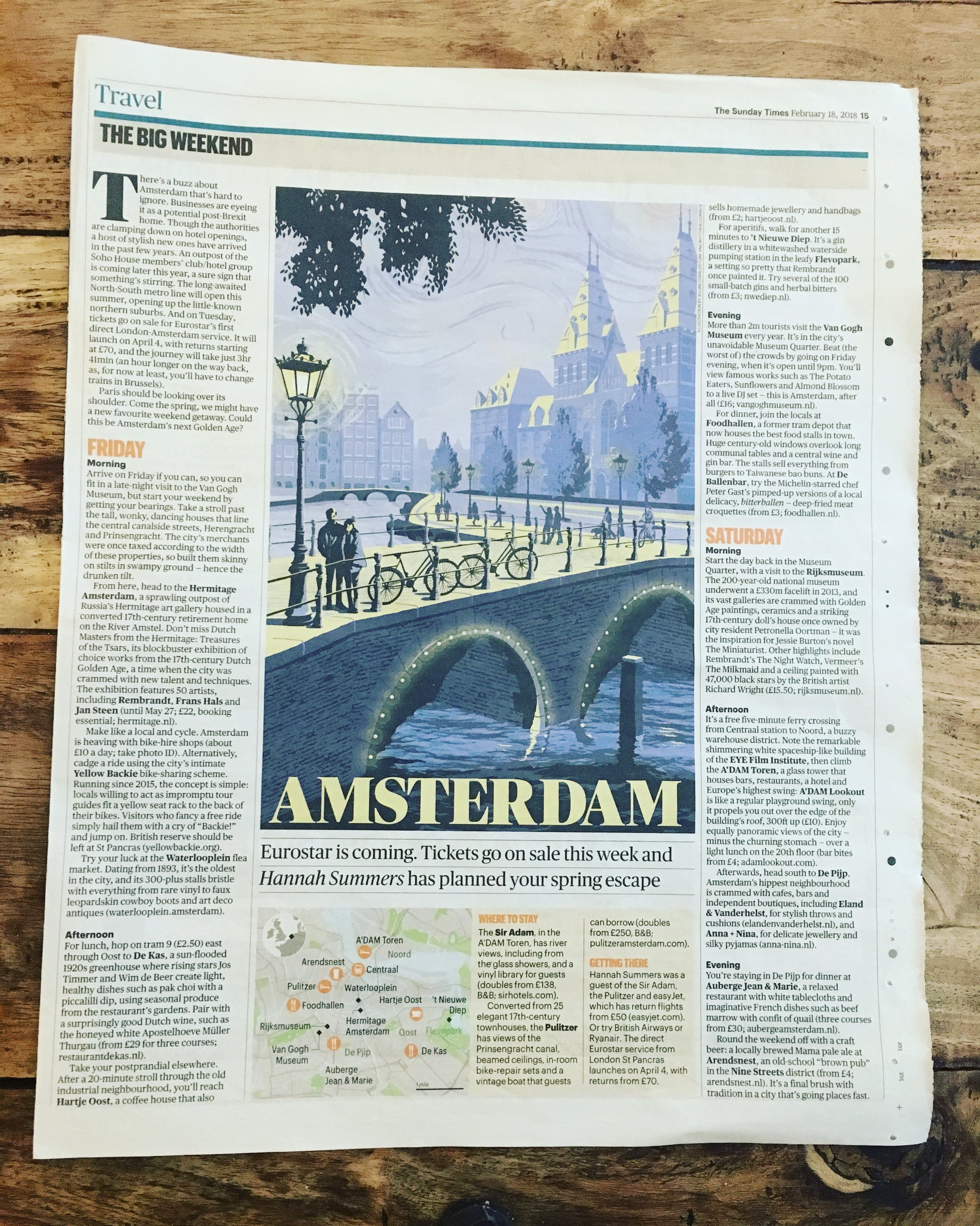 Travel | The Sunday Times | Amsterdam