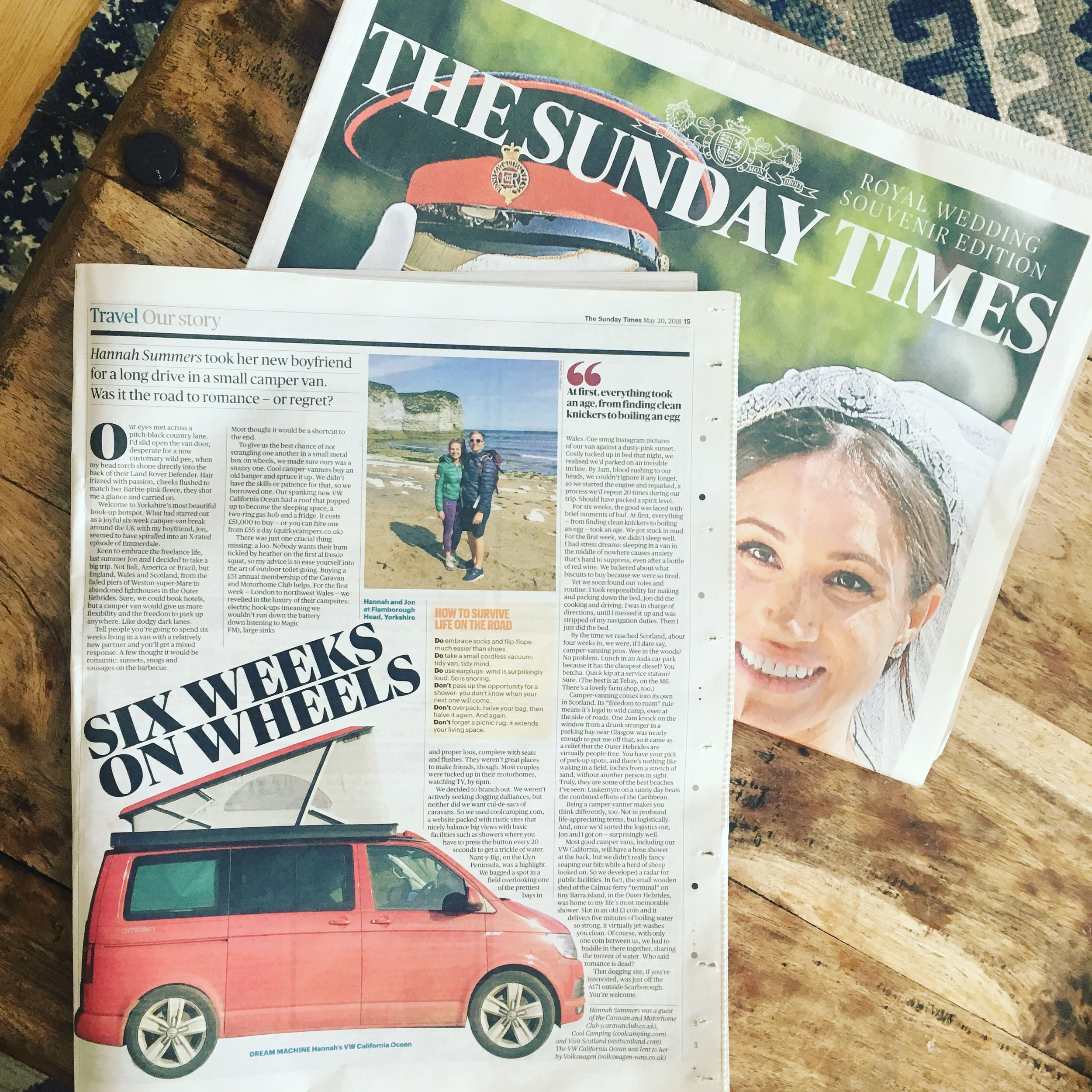 Travel | The Sunday Times | UK Camper Tour