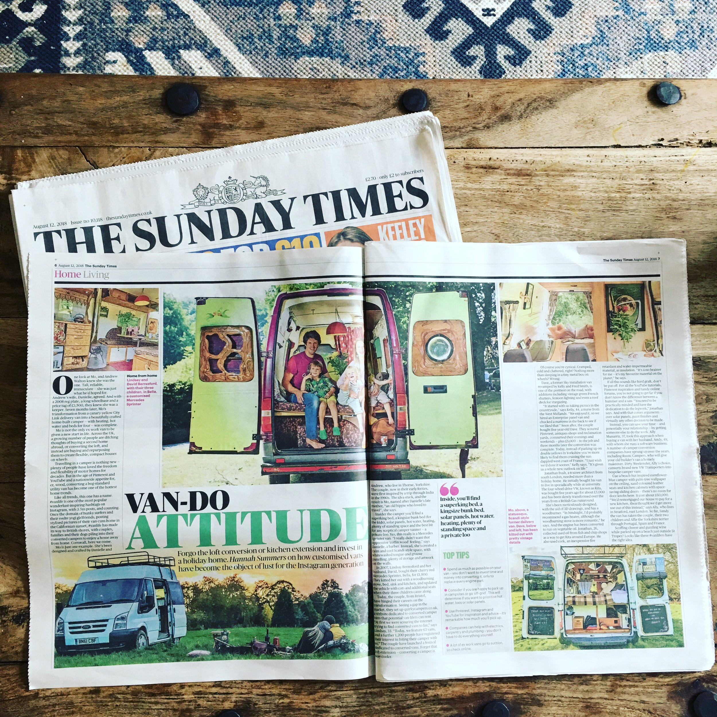 Lifestyle | The Sunday Times | Vanlife