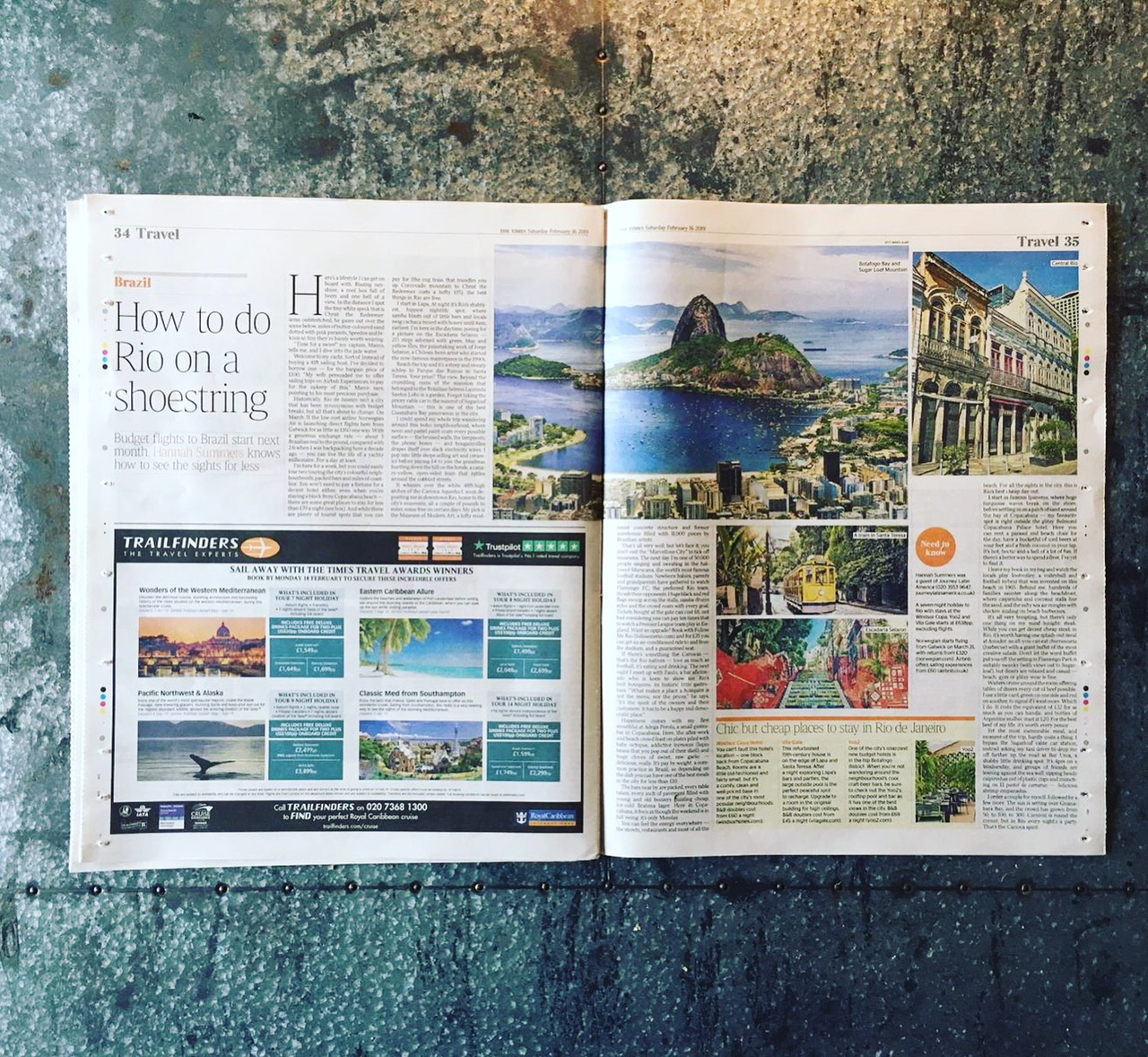 Travel | The Times | Rio, Brazil