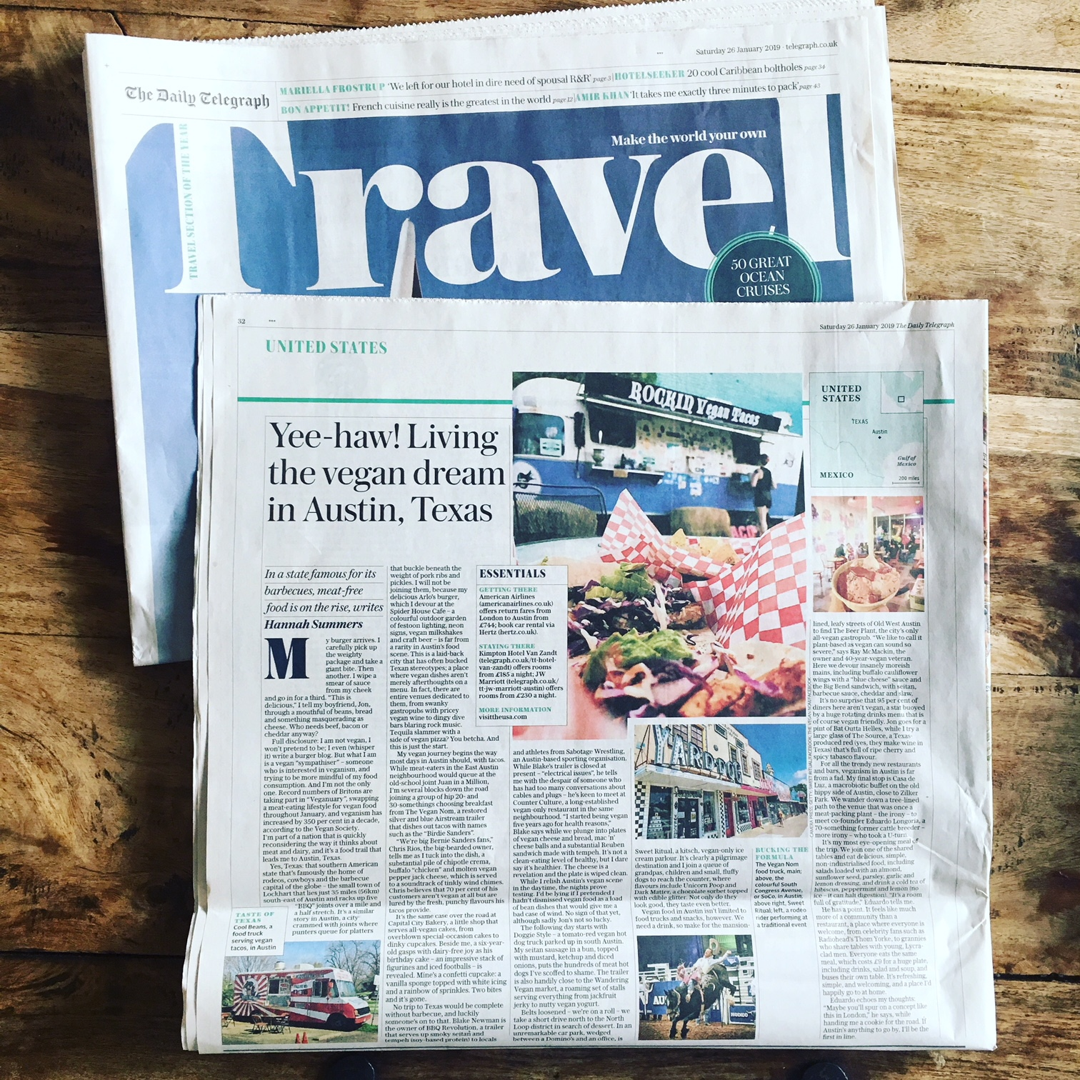 Travel | The Telegraph | Vegan Austin