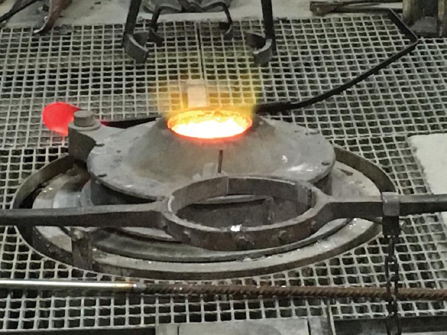 melting the bronze