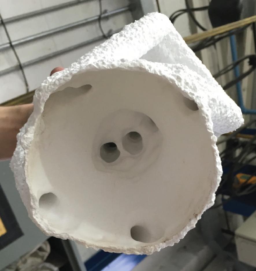 ceramic shell w/o the wax