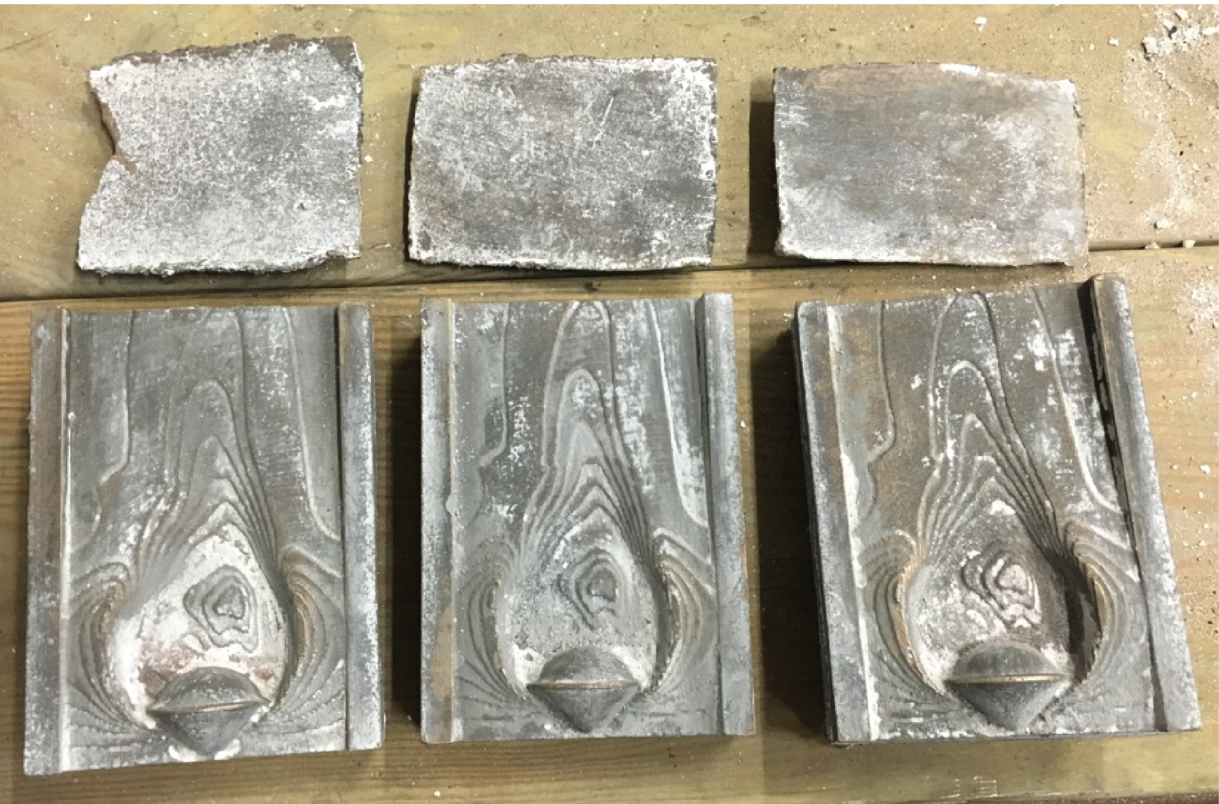 fronts after removing the ceramic shells