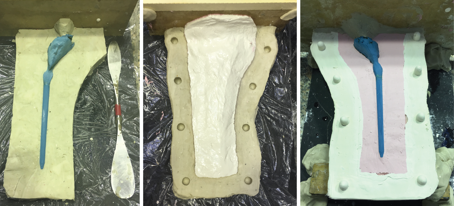 2 sided silicone mold making
