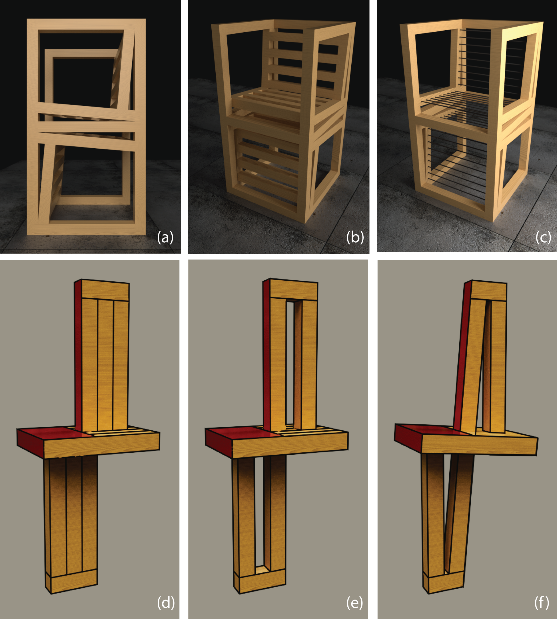 first and second design iterations
