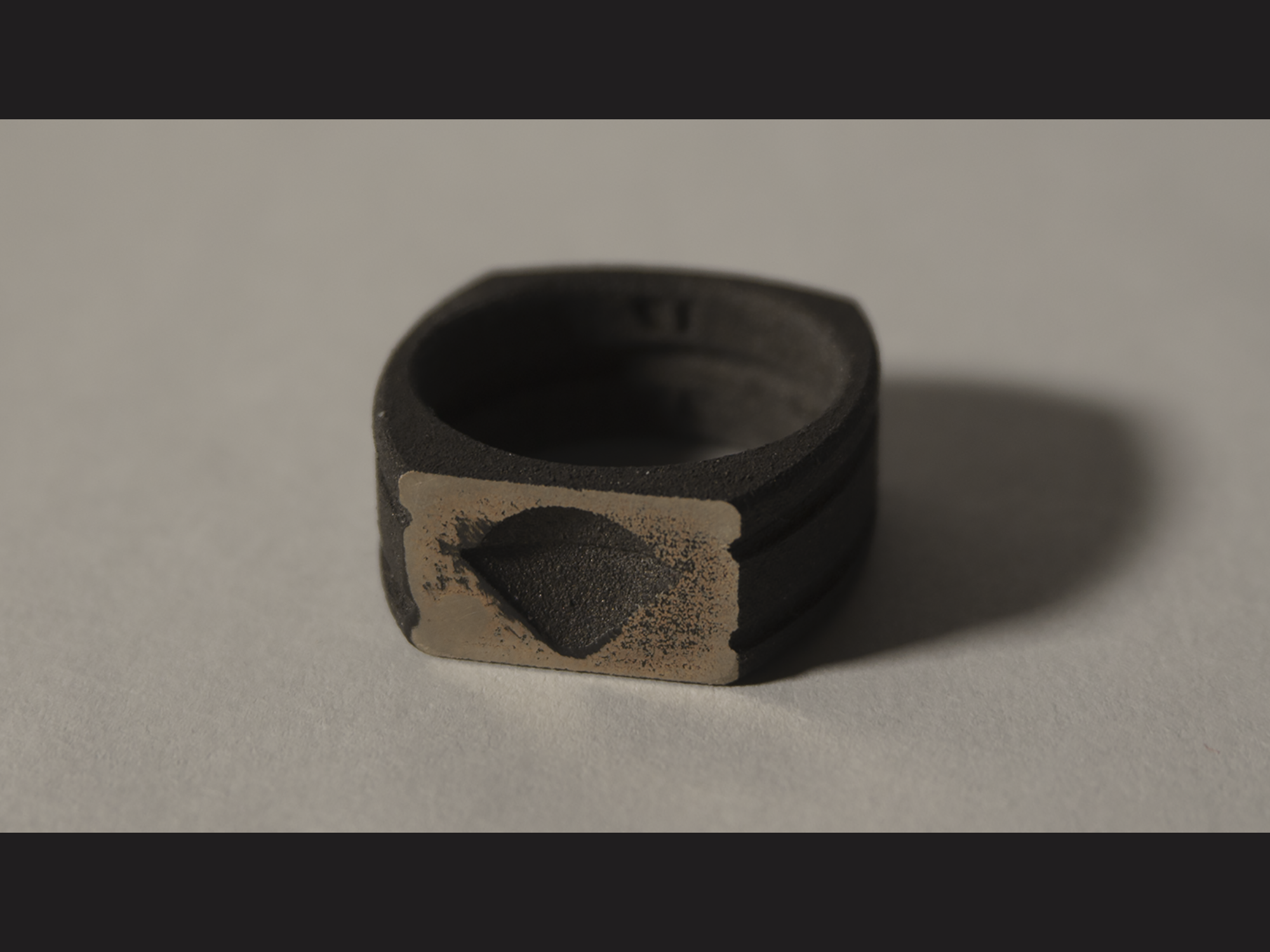 Galileo probe steel ring, printed and casted through Shapeways