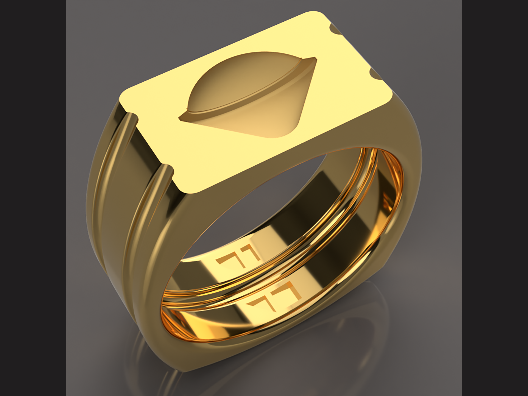 Fusion 360 rendered Galileo probe ring model