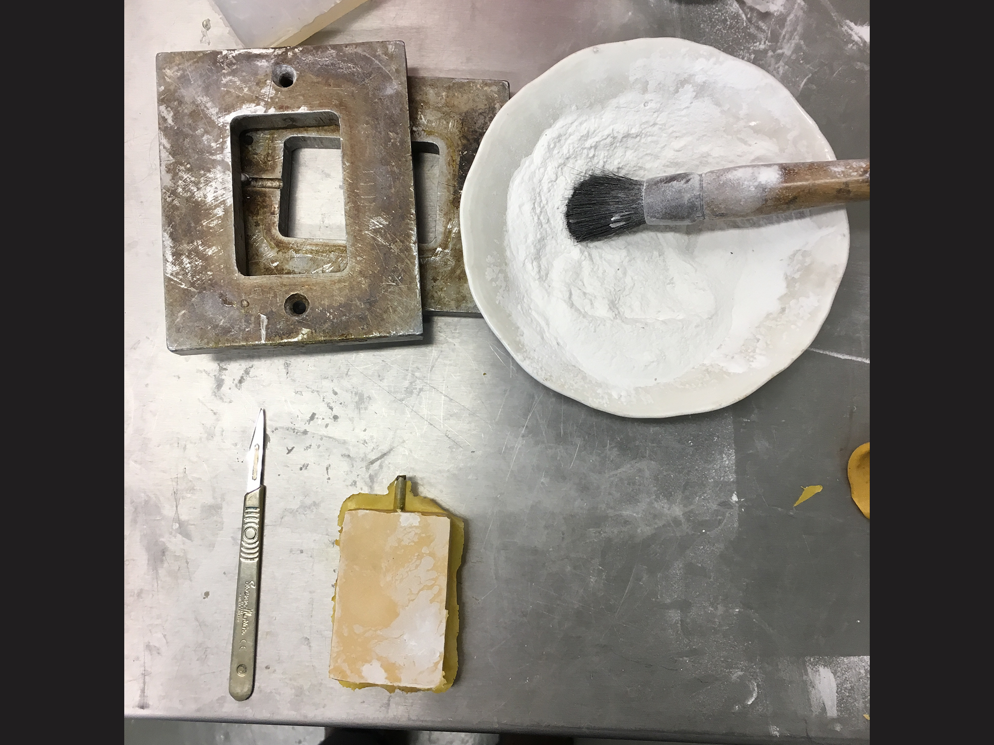 creating the silicone mold