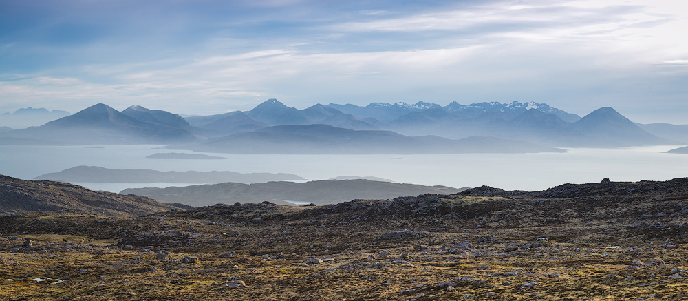 The Cuillins..as seen from the top of the Bealach na Bà